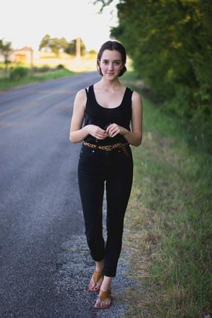 black Cheap Monday jeans - black Target top - light brown sunray ecote sandals