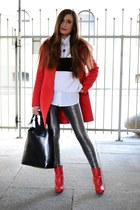 Stradivarius boots - Zara bag - silver Stradivarius pants