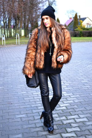 H&M jacket - venezia boots - H&M leggings