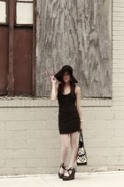 black Urban dress - beige Betsey Johnson stockings - black Jessica Simpson shoes