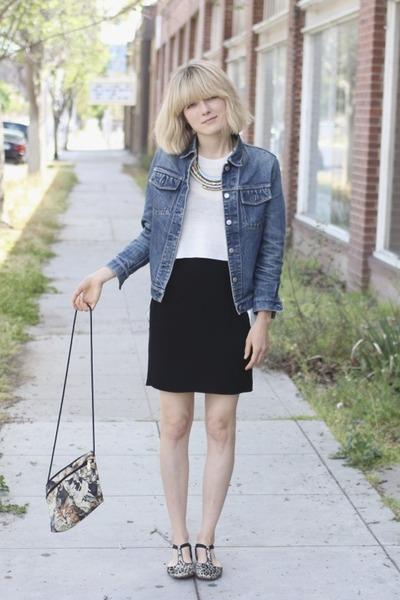 vintage jacket - APC shoes - cats vintage bag - Alexander Want top