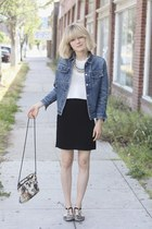 vintage jacket - APC shoes - cats vintage bag - Alexander Want top