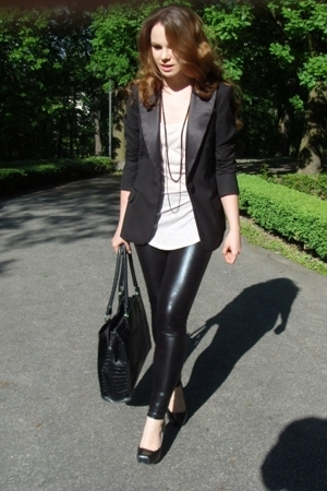 H&M blazer - leggings - Zara top - Chix shoes - accessories
