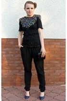 Promod pants - Fiore shoes - vintage accessories - vintage blouse