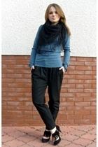 Promod pants - EthelAustin sweater - vintage scarf - Zara shoes