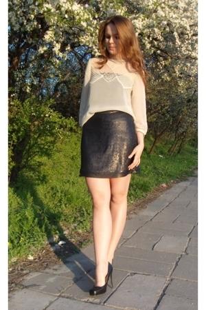 Top Shop blouse - next skirt - shoes - Zara top