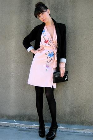 black Mossimo blazer - black Bebe shoes - pink Rodarte dress