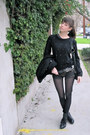 Black-kelsi-dagger-boots-black-tigerlily-jacket-black-h-m-sweater-charcoal