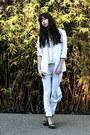 White-seven-jeans-white-topshop-blazer-cream-vintage-purse-bronze-sam-edel