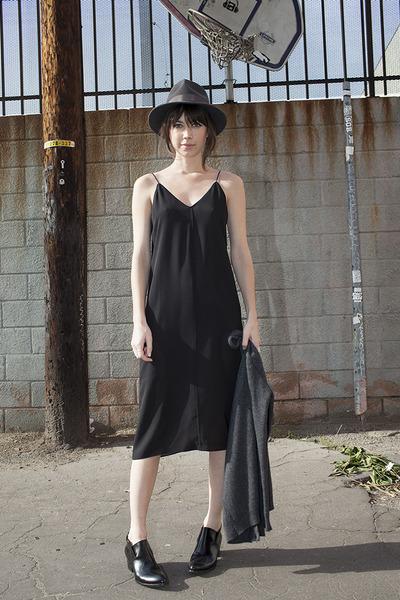 black Alexander Wang boots - black Alexander Wang dress