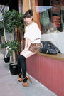 White-urban-outfitters-sweater-orange-jessica-simpson-shoes