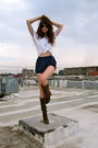 Blue-american-apparel-shorts-white-california-select-by-aa-blouse