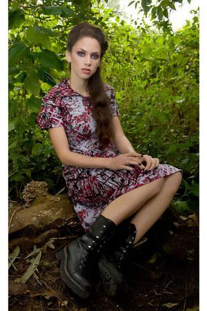 boots - Jimena anastasio dress
