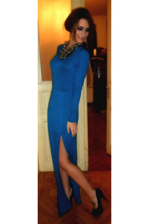 blue maxi dress beauty angel dress - black Christian Louboutin pumps