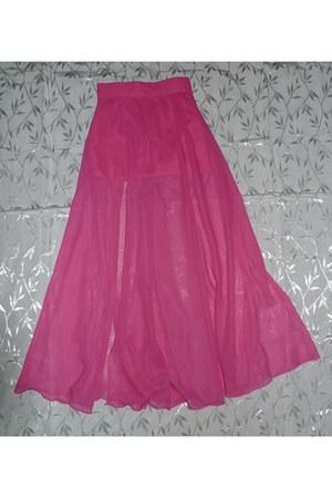bubble gum maxi skirt