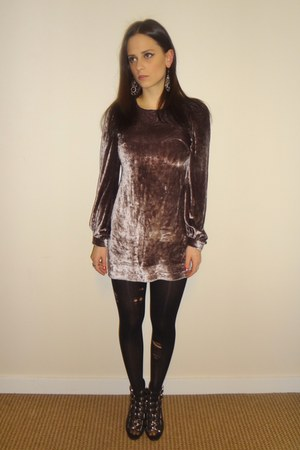 silver French Connection dress - black Jeffrey Campbell wedges