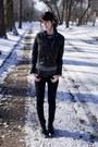 Black-dr-martens-boots-black-h-m-jacket-charcoal-gray-zara-shirt