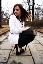 ivory Mosquito blazer - black deezee heels