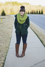 Brown-flat-tall-justfab-boots-dark-green-houndstooth-forever-21-coat
