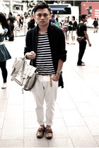 white Zara jeans - silver PROENZA SCHOULER bag - yellow Zara belt