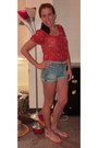 Forever-21-shirt-american-eagle-shorts-forever21-belt-gap-sandals
