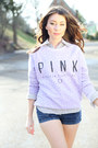 Light-purple-victorias-secret-pink-sweatshirt