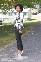 striped Forever 21 blazer