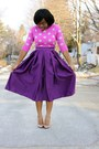 Purple-self-made-skirt