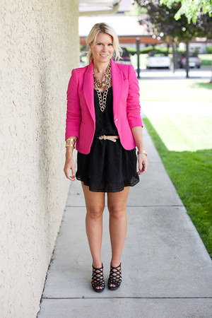 Zara blazer - wilfred dress - BCBG wedges