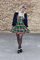 PaulnKC dress - BDG jacket - Jessica Simpson clogs