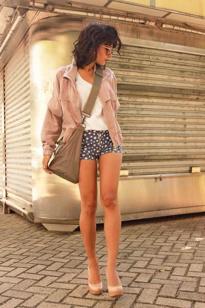 Adidas jacket - Adidas bag - leather Prada earrings