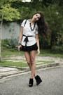 Black-santa-lolla-bag-white-zara-blouse-black-lace-dress-to-skirt