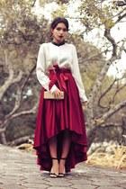 Chicwish skirt - Amandhí hair accessory - Schutz sandals