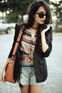 Black-felicee-blazer-coral-nica-bag-silver-aquamar-shorts