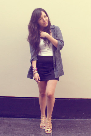 University club shirt - axxs top - H&M skirt - Plaza Vea sandals