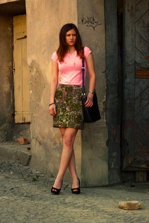 vintage skirt - cropp shirt - BHS bag