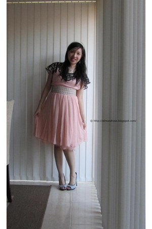 light pink Alannah Hill dress - white Charles & Keith heels - beige Sportsgirl b