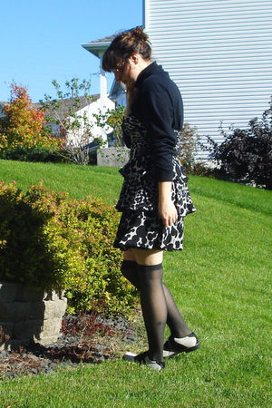 black thrifted Hush Puppies shoes - black Macys  dress