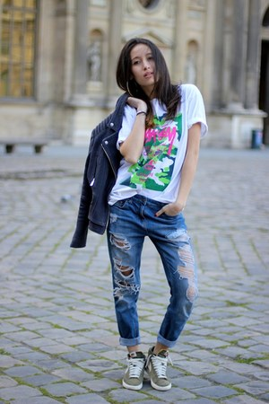 Stussy t-shirt - Forever 21 jeans