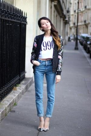Pimkie jeans - asos t-shirt - obey vest
