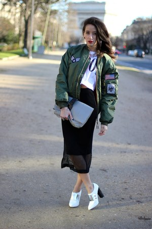 asos jacket - asos bag - asos skirt