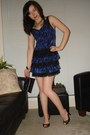Blue-guess-dress-black-guess-bag-black-le-chateau-shoes-gold-aldo-accessor