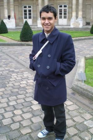 coat - shirt - purse - jeans