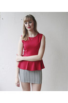 red Fast Fashion skirt
