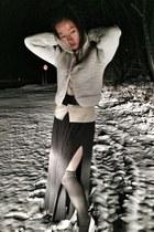 H&M heels - H&M Isabel Marant jacket - vintage cardigan - Club Monaco top