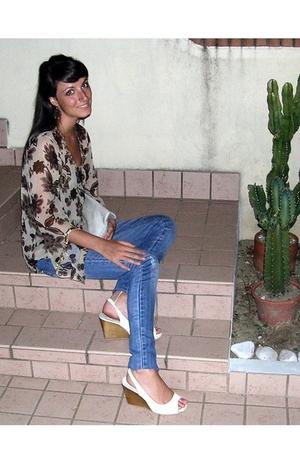 jeans - blouse - Zara shoes - accessories