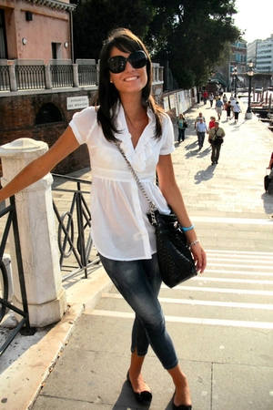 jeans - shirt - shoes - Blumarine accessories - Ray Ban sunglasses