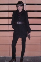 Tally Weijl coat - jeans - belt - Louis Vuitton accessories - alberto fermani sh