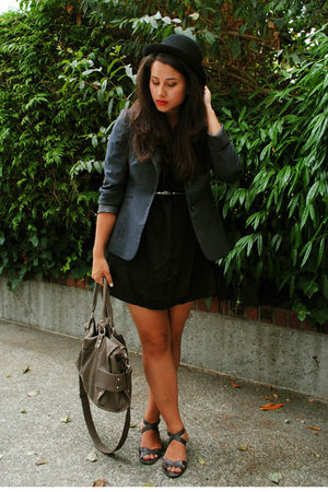 Urban Outfitters dress - vintage blazer - Joe Fresh shoes