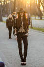 Black-heeled-asos-shoes-black-choies-blazer-brown-leopard-second-hand-shirt